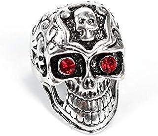 شخصية سبيكة خاتم روك نمط الشرير مجوهرات ريترو 3d الجمجمة الدائري للرجال أوس 10