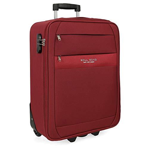 Roll Road Carter Maleta de cabina Rojo 40x55x20 cms Blanda Poliéster Cierre combinación 40L 2,5Kgs 2 Ruedas Equipaje de Mano