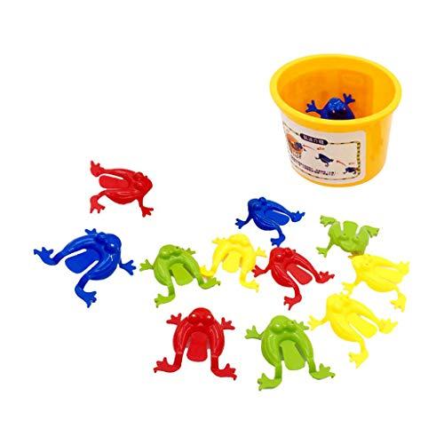 Amagogo 12 Juguetes de Rana Saltarina con Cubo, Juego de Fiesta de Ranas para Niños Y Niñas