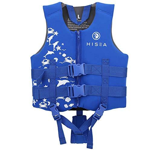 HWZZ Niños Hombres Y Mujeres Chalecos Salvavidas Profesionales Chalecos Salvavidas Kayak Seguridad Chalecos Salvavidas Natación Rafting Surf Seguridad,Azul,45~55kg