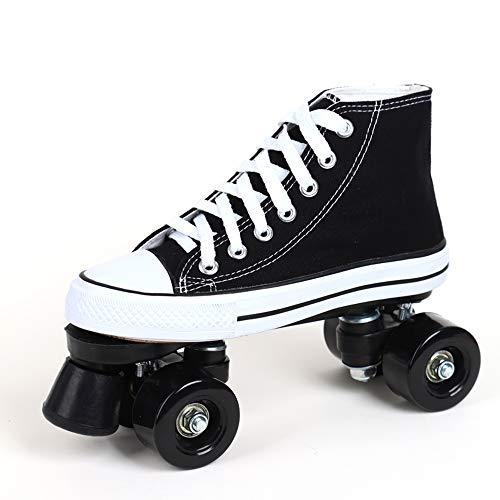 Led Quad Skates Schuhe Herren Rollschuhe Mädchen Damen Skates Blades Rollerskates Für Erwachsene Kinder Jungen Mädchen Retro Design Mit Buntem Lichtrahmen,Black-37