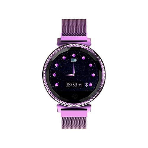 Exquisito, hermoso, decente, novedoso y único. Pulsera inteligente de las señoras, reloj de Bluetooth Multifuncional Multifuncional Rhinestone de la pantalla redonda de 1.04 pulgadas, compatible con /