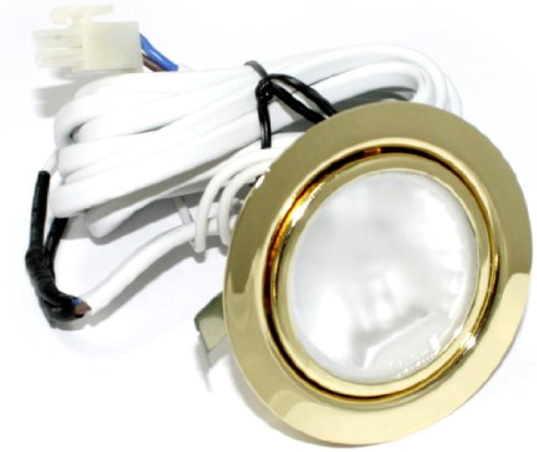 6 Pack 12V Halogen Mbel Schrank Küchen Einbauleuchte Mbelleuchte Einbaustrahler Spot Farbe  Gold IP20 inkl. G4 20 Watt Stiftsockelbirne ohne Trafo