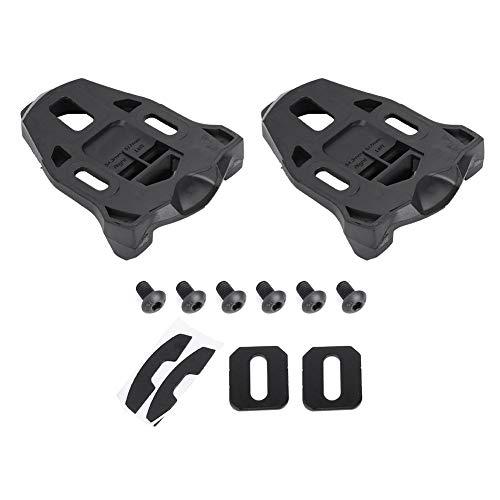 Outbit Pedaal Cleat - 1 paar kunststof racefiets wielschoenslot van zwart kunststof anti-slip racefietsschoen voor het rijden