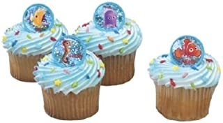 CakeDrake Finding NEMO Tropical Fish Dory (12) Birthday Party Favors Cupcake Rings Toppers