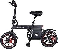 TOEU Electric Bike, Urban Commuter Folding E-bike, Max Speed 25km/h, 14inch Adult Bicycle, 350W/36V ...