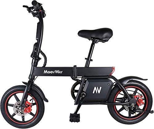 TOEU Electric Bike, Urban Commuter Folding E-bike, Max Speed 25km/h, 14inch Adult Bicycle, 350W/36V Charging Lithium Battery