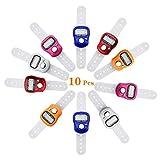 COCOCITY 10 Stück Elektronischer Fingerzähler Reihenzähler, Digit LCD Mengenzähler Hand Tally...