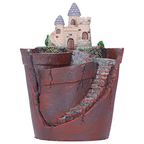 多肉植物植木鉢樹脂ミニハウスフラワープランターコンテナ家の装飾、植木鉢フラワーコンテナ家の装飾