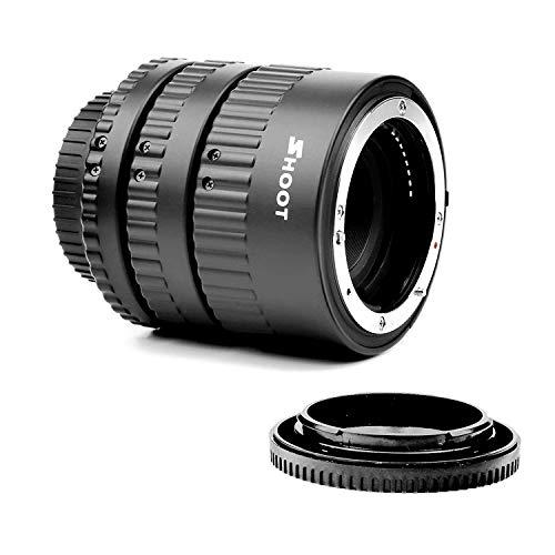 SHOOT Enfoque Automático de Extensión Macro Juego de Tubos para Nikon D7100 D7000 D5300 D5200 D5100 D5000 D3100 D3000 D800 D600 D300s D300 D90 D80 Cámara Digital SLR