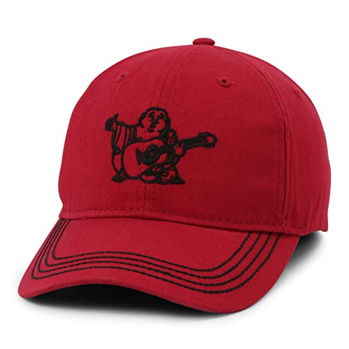 True Religion Unisex Core Buddha Baseball Cap, Adult, Ruby Red, OS