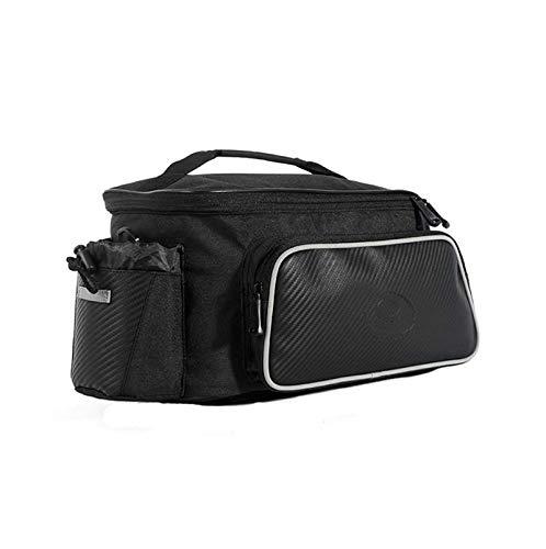 Roswheel 10L Bike Carbon Fiber Leather Bicycle Rear Rack Seat Pannier Bag Pouch