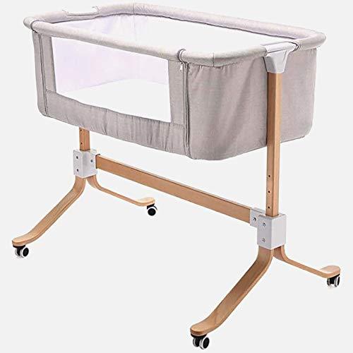 Macro Portátil Multifuncional Junto A La Cama para Dormir Al Lado del Bebé, Se Puede Conectar A Una Cama para Adultos, Ruedas para Facilitar El Movimiento Tejido Lavable De Alta Gama Ligero
