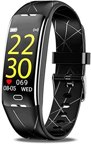 BIGFOX Cardiofrequenzimetro da Polso,Impermeabile Contapassi Polso Donna con GPS integrato,Orologio Fitness Uomo Calorie Sonno Fitness Tracker Whatsapp Notifiche per Android iOS Telefono