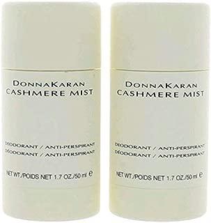 Donna Karan Cashmere Mist Deodorant / Anti-Perspirant 1.7 oz (Pack of 2)
