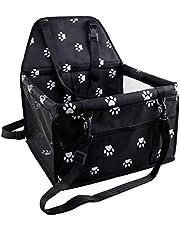 TOOGOO Asiento Aumentador De Presión De Coche De Refuerzo De Mascotas para Perro Gato Bolsa Portátil y De Seguridad para Cuidado De Viaje,con Clip en Traílla y Paquete De Almacenamiento
