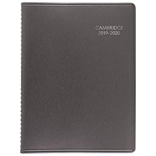 Cambridge 2019-2020 Academic Year Weekly & Monthly Appointment Book / Planner, Large, 8' x 11', Business, Silver (CAW60203)