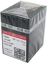 GROZ-BECKERT Needle -100 GROZ-BECKERT GEBEDUR 134 MR / 135X5 MR Titanium Quilting Machine Needles (100PCS Groz-Beckert-134MR 18/110)