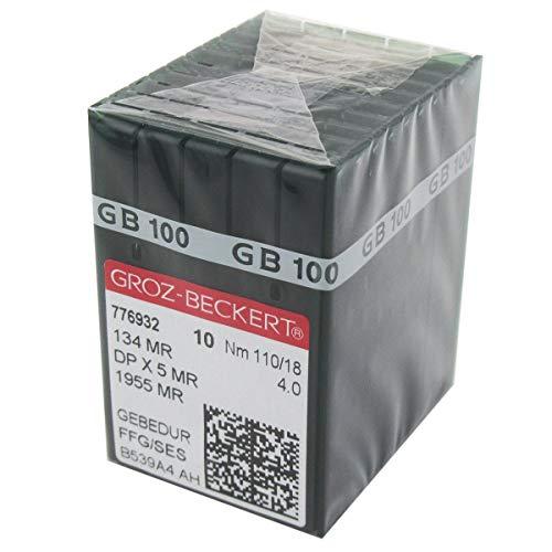 Aguja GROZ-BECKERT en caja de plástico transparente CKPSMS -100 GROZ-BECKERT GEBEDUR 134 MR / 135X5 MR Agujas para máquina de acolchado de titanio (100PCS Groz-Beckert-134MR 14/90)