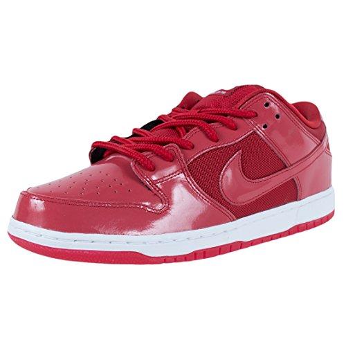 Nike SB Dunk Low Pro - Zapatillas de skate para hombre, Rojo (Rojo universidad/Blanco), 41.5 EU