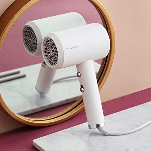 Anion Secador de pelo Aleación de aluminio Cuerpo Salida de aire Anti-caliente 2 Velocidad 3 Temperatura Herramientas de secado rápido HL311 HL312(Color:blanco)