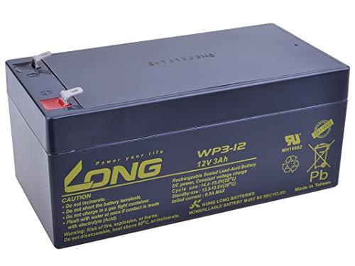 LONG PBLO-12V003-F1 12V 3Ah Blei-Säure Akku F1 (WP3-12), 12 V