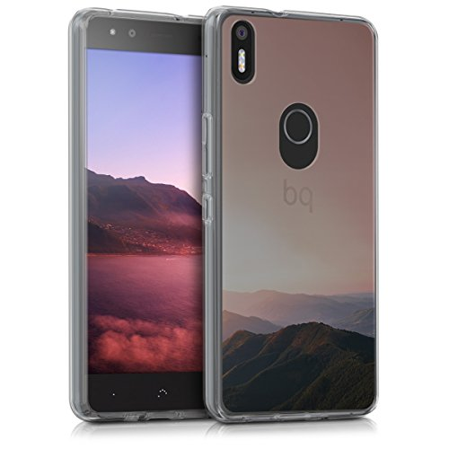 kwmobile bq Aquaris X5 Plus Hülle - Handyhülle für bq Aquaris X5 Plus - Handy Case in Altrosa Schwarz Transparent