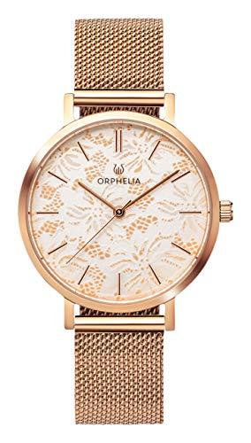 ORPHELIA Damen Analog Quarz Uhr mit Edelstahl Armband OR12805