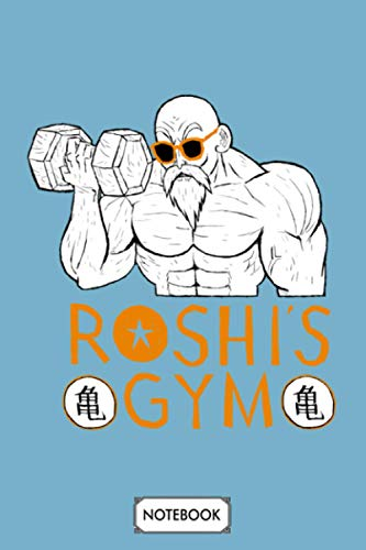 Roshis Gym White Option Notebook: 6x9 120 Pages, Diary, Lined College Ruled Paper, Journal, Planner, Matte Finish Cover