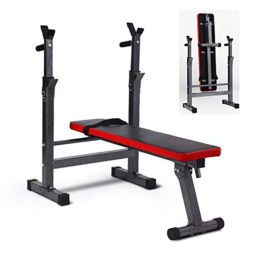 HSYA Banco Musculacion Multifunción Banco Pesas reclinable para Entrenamiento de Cuerpo Entero inclinación Ajustable