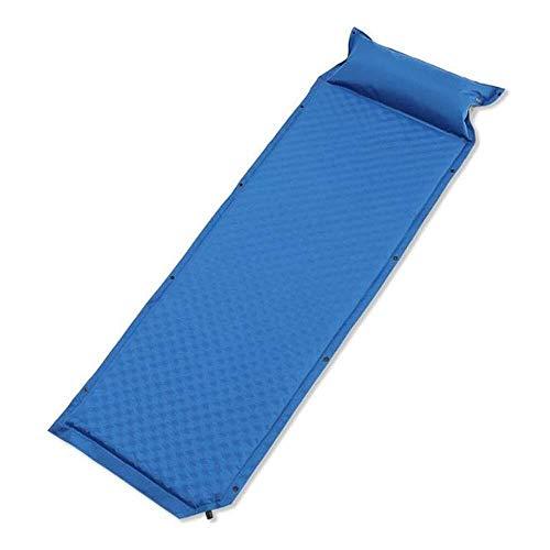 Sponge Schaumstoff-Luftbett Zelt Matte Vernähen kompakte, selbstfüllende Isomatte Camping Kissen Einzel Jamboree Beach (Farbe: blau, Größe: 75,9 * 25,6 * 1,38 Zoll), Größe: 75,9 * 25,6 * 1,38 Zoll, Fa
