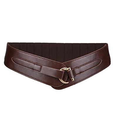 Vintage Western Wide Belt for Women Retro Buckle Elastic Waist Belt Cinch