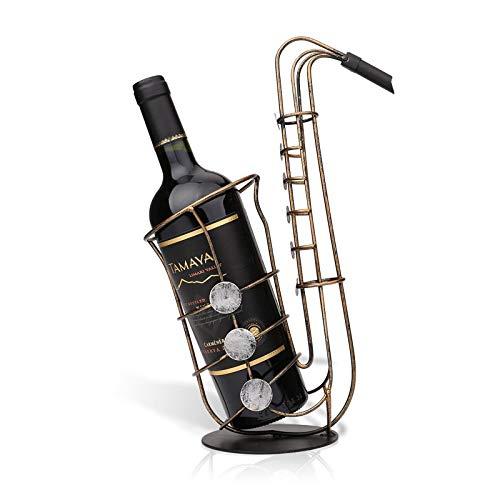 KUKU Botellero, Botellero Creativo, Forma De Instrumento Musical, Estante De Exhibición De Escritorio, Decoración Artística, Metal, Usado para Almacenar Vino, Regalos Navideños