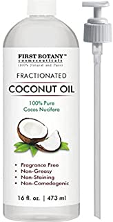 Fractionated Coconut Oil 16 fl. oz - 100% Natural & Pure MCT Coconut Oil for Hair, Skin,and Aromatherapy Carrier Oil, Massage Oil,Best Skin Moisturizer UV Resistant BPA Free Bottle