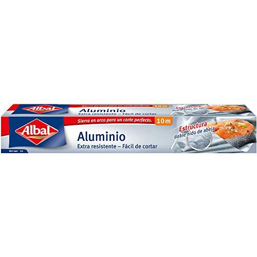 Albal Papel Aluminio Extra-Resistente y Fácil de Cortar, 10 Metros - 1 Unidad