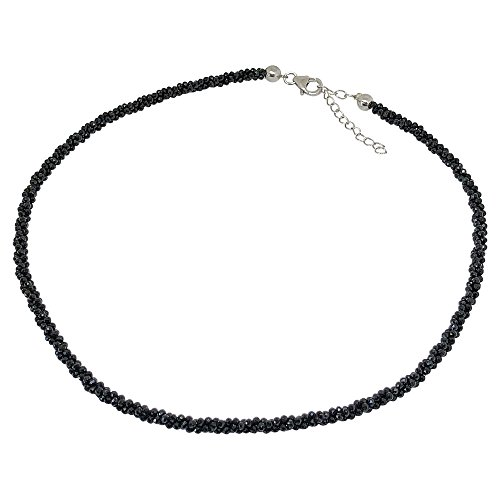 BellaMira 'Rejuvenate & Renew' Sterling Silver Black Spinel Necklace Artisan Crafted Handmade In India Fine Jewellery In Retail Gift Box