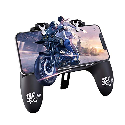 iWALK Mobile Game Controller[Upgrade Version] Mobile Gaming Trigger with 4000mAh Portable Charger for PUBG/Fortnite/Rules of Survival Joystick Gamepad for 4-6.5' iOS & Android Phone