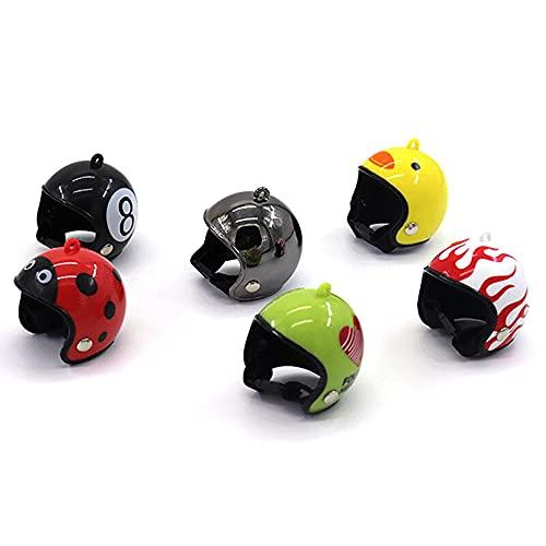 6 Piezas De Casco De Pollo Casco De Seguridad Para Mascotas Casco De Loro Divertido Sombrero De Pájaro De Pollo Sombrero Pequeño Sombrero Duro Para Mascotas Casco Para Mascotas Accesorios De Ropa