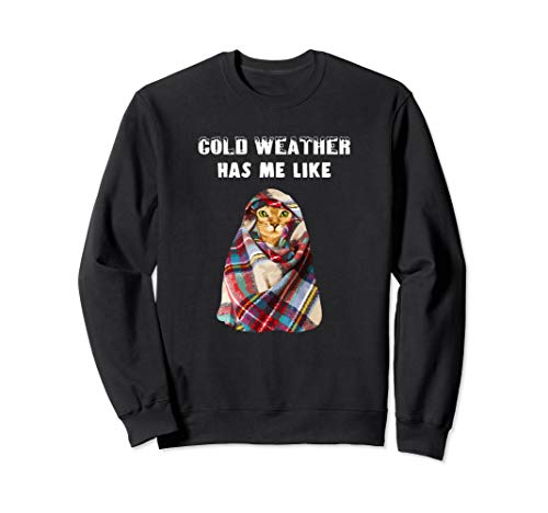 Bengal Cat Winter Cold Weather Funny Gift Sweatshirt