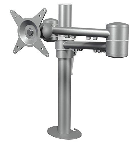 Dataflex 662 ViewMate Style Monitorarm (Tragkraft max. 15kg, bis 61 cm (24 Zoll) Bildschirmdiagonale, VESA: MIS-D 75x75/100x100mm kompatibel, Säule Höhe 400mm) Silber