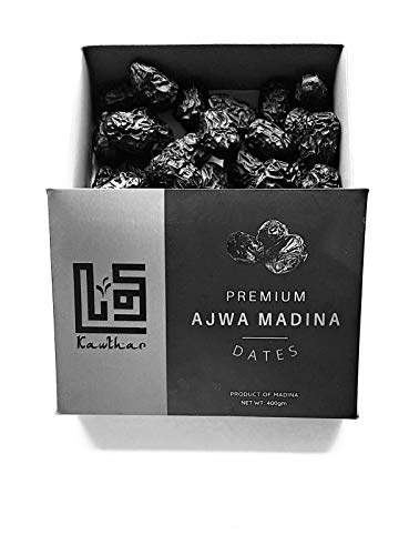 Ajwa Dates - 100% Natural Premium Dates - Healthy, Large Quality Ajwa Dates From Saudi Arabia 400g