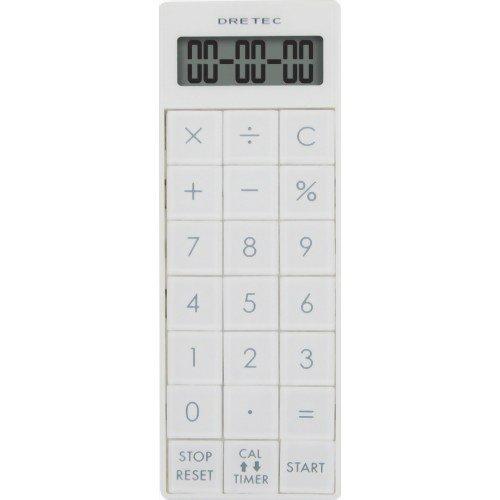ドリテック 電卓付長時間タイマー ホワイト CL-116WT