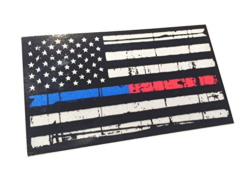 Empire Tactical USA línea de Estados Unidos, Rojo y Azul calcomanía Reflectantes Hechos jirones Etiqueta engomada táctica 3m