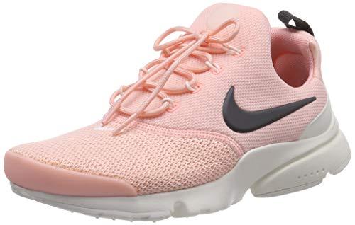 NIKE , Damen Presto Fly Gymnastics Schuhe,Mehrfarbig (Storm Pink/Anthracite-Summit White 607), 36.5 EU (3.5 UK)