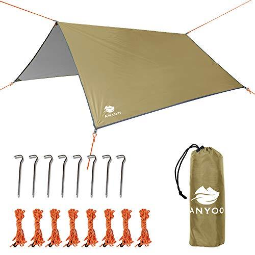Anyoo Ripstop Rain Tarp Beach Tent Hamaca Fly Sunshade Ligero Impermeable Shelter...