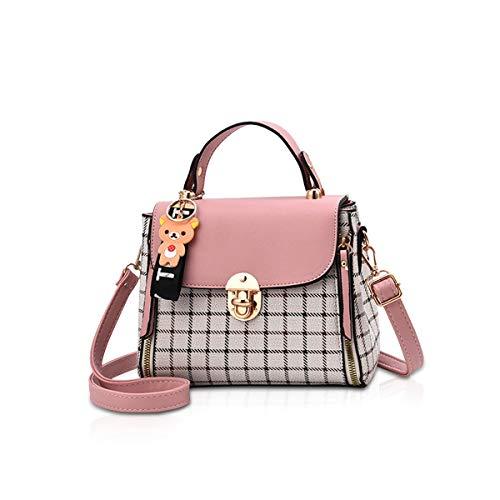 NICOLE&DORIS Handtaschen für Damen Schöne Klappen Handtasche für Mädchen Schultertasche Umhängetaschen Rosa