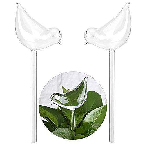 WCY Forma 2pcs Bird Waterer Planta de riego Auto Globos de Cristal Transparente Planta de riego yqaae