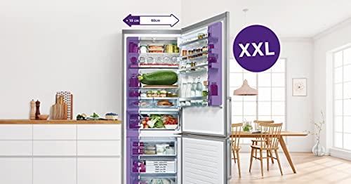 Bosch KGN49XIDP Serie 4 Réfrigérateur congélateur XXL autoportant/A+++ / 203 x 70 cm / 202 kWh/an/Inox anti-traces de doigts/réfrigérateur 330 L/congélateur 105 L/NoFrost/VitaFresh
