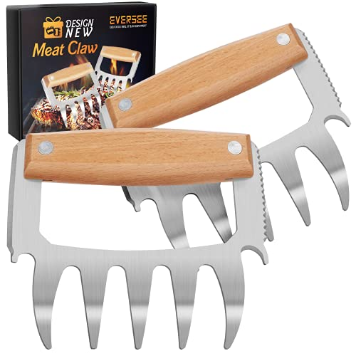 Bear Meat Claws For Shredding - BBQ Grill Claws Stainless Steel Pulled Pork Chicken Shredder Claws Tool Metal Cooking Smoker Accessories Barbecue Birthday Gifts Ideas For Men Women Dad BBQ Enthusiasts