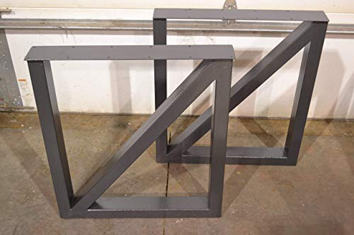 Metal Table Legs, Rectangular Cross Brace Style - Any Size and Color